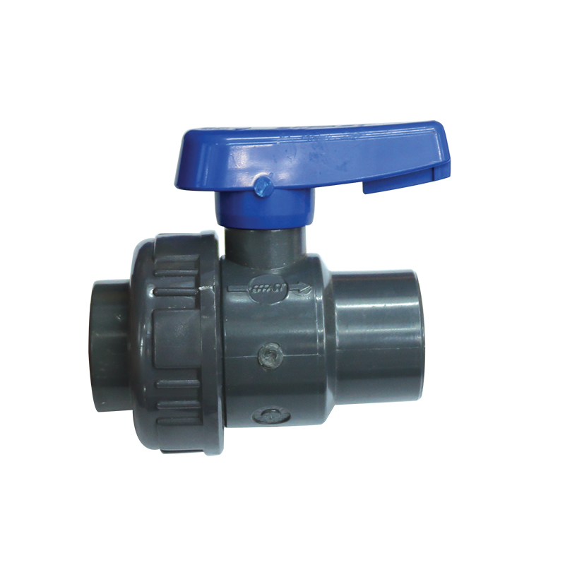 Balls Valve, Single Union BSPT, Plastic, Grey