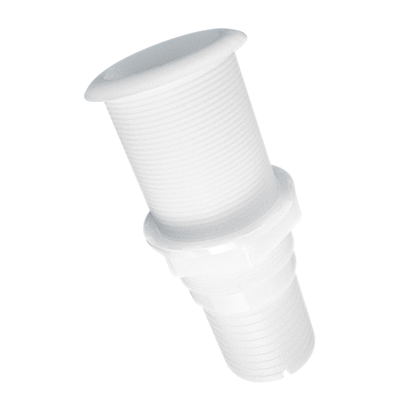 Thru-Hulls Standard Flange Threaded, White