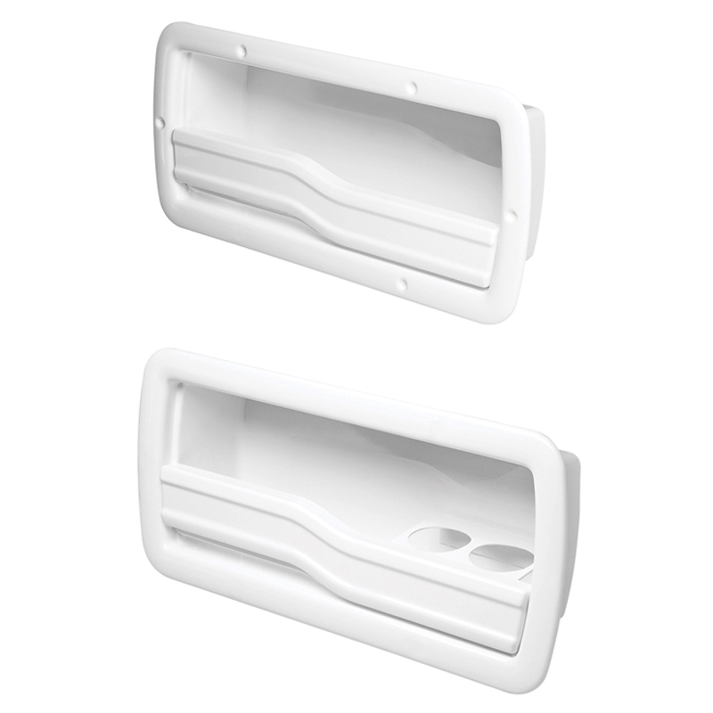 Utility Storage Cases, Side Mount, White